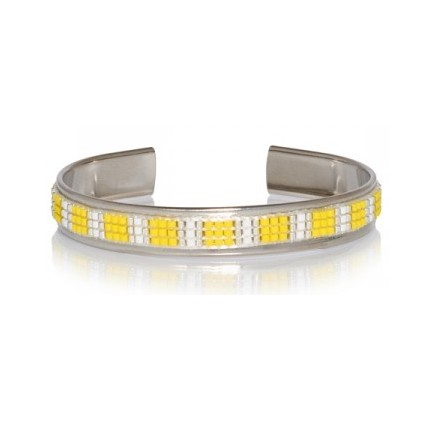 Bracelet Perles OPALE - Kalinda Jaune - Livraison Gratuite