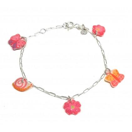 Bracelet chaîne Fleur Argent 925 - Bijoux Enfants Ribambelle