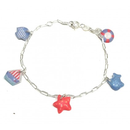 Bracelet chaîne Mer Argent 925 - Bijoux Enfants Ribambelle - Livraison Gratuite