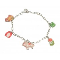 Bracelet chaîne Equitation Argent 925 - Bijoux Enfants Ribambelle