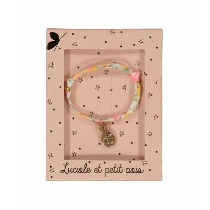 Bracelet – Liberty Wiltshire lemon curd Luciole et Petit Pois