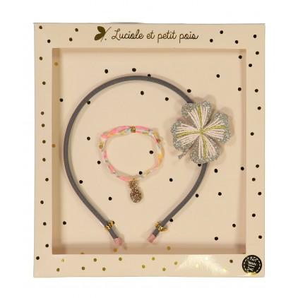 Serre-tête & Bracelet – Luciole et Petit Pois