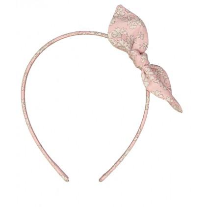 Serre-tête noeud - Liberty Capel rose nude – Luciole et Petit Pois