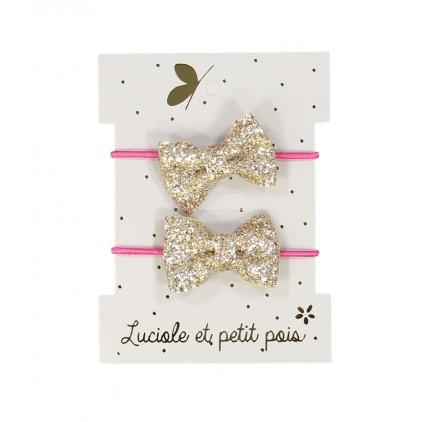 Mini élastiques papillon – Doré– Luciole et Petit Pois