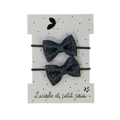 Mini élastiques papillon – Bleu– Luciole et Petit Pois