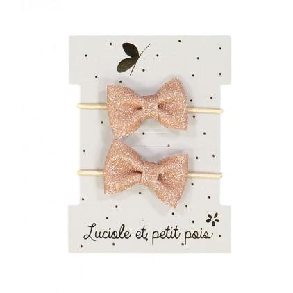 Mini élastiques papillon – Beige – Luciole et Petit Pois