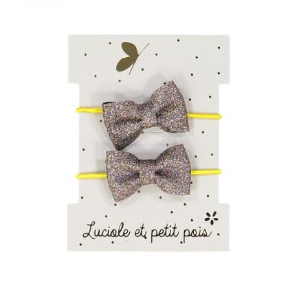 Mini élastiques papillon – Bronze – Luciole et Petit Pois