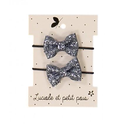 Mini élastiques papillon – Gris – Luciole et Petit Pois