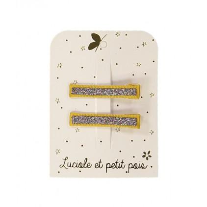 Barrettes crocos glitter – Bronze – Luciole et Petit Pois