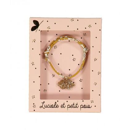 Bracelet Liberty – Capel moutarde nuage - Luciole et Petit Pois
