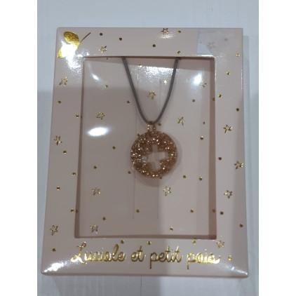 Collier long – cordon croix - Luciole et Petit Pois