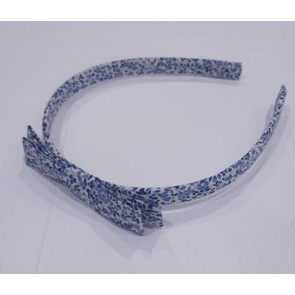 Serre-tête Liberty kimono – bleu – Luciole et Petit Pois