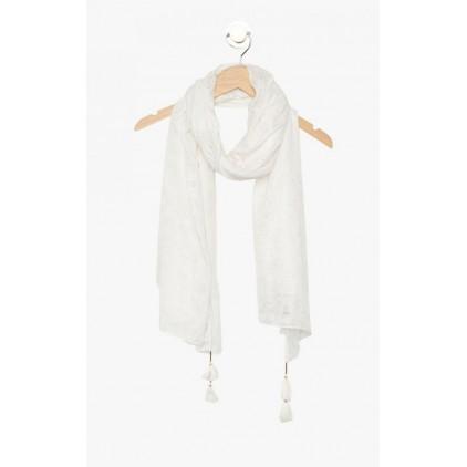 Foulard blanc à cœurs Fautif - LOLLIPOPS