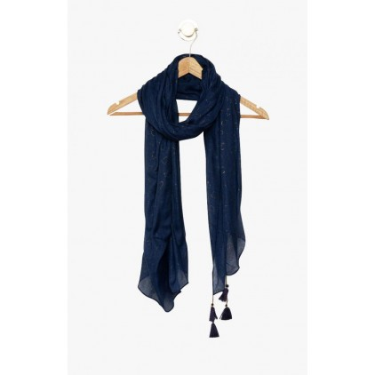 Foulard bleu marine à cœurs Fautif - LOLLIPOPS