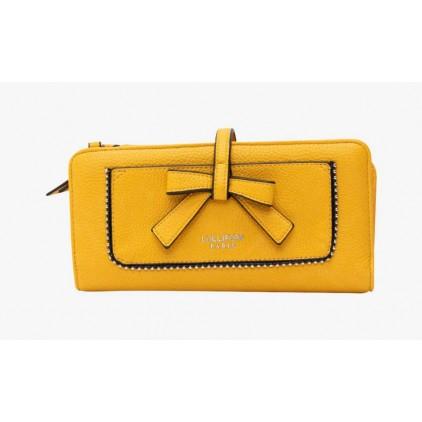 Portefeuille jaune à nœud Fern - LOLLIPOPS