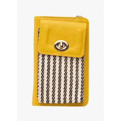 Portefeuille jaune rayé Frankie - LOLLIPOPS