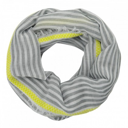 Foulard STRIPES WITH BORDER LOOP - CODELLO