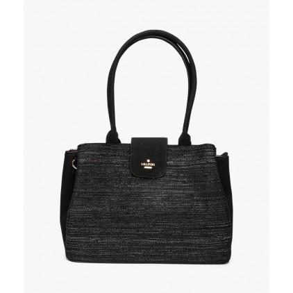 Sac shopper noir irisé Carol - LOLLIPOPS