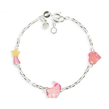 Bracelet 3 motifs licorne - Ribambelle Bijoux