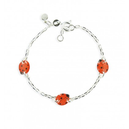 Bracelet 3 motifs coccinelle - Ribambelle Bijoux