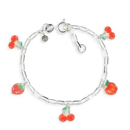 Bracelet figaro cerise - Ribambelle Bijoux