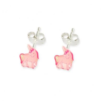 Boucles d'oreilles tiges licorne - Ribambelle Bijoux