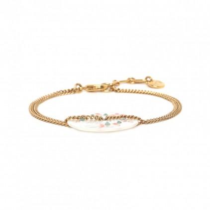LUCINE bracelet Nacre & chaine - Franck Herval