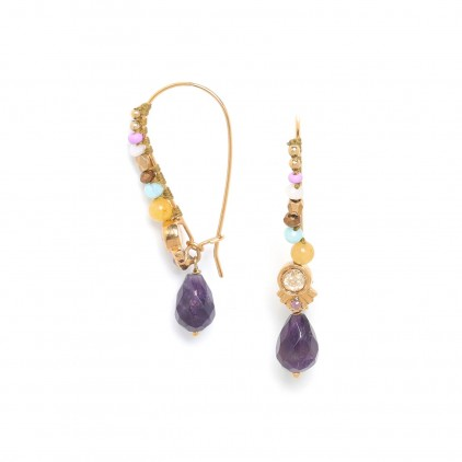 LES INSEPARABLES boucle grand crochet « violet » - Franck Herval