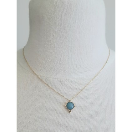 Collier rond pierre turquoise - ZAG