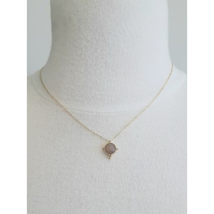 Collier rond pierre nude - ZAG