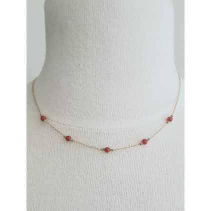 Collier perles rouges - ZAG