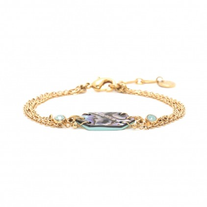 ELISA bracelet multi chaine Abalone - Franck Herval