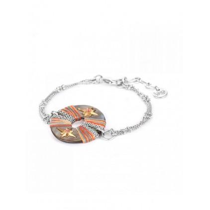 DANNIE - bracelet fin anneau Nacre - Franck Herval