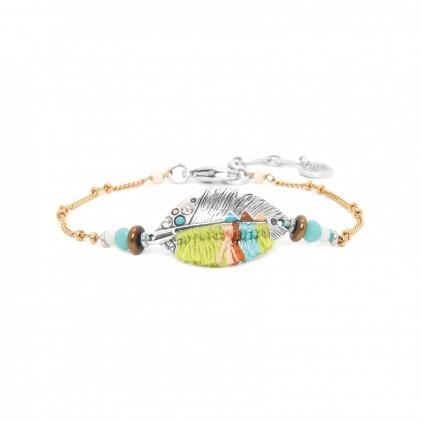 LEXIE bracelet chaine plume tissée - Franck Herval