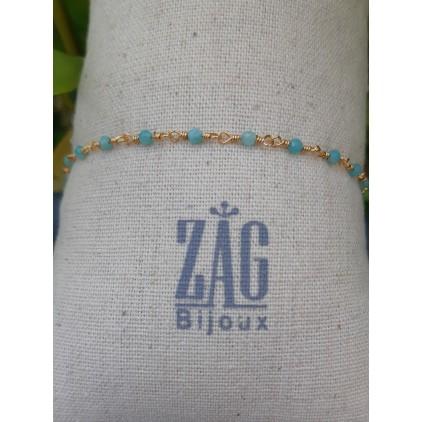 Bracelet pierre turquoise - ZAG