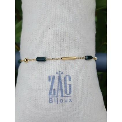 Bracelet pierre (vert foncé) - ZAG
