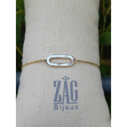 Bracelet ovale nacre- ZAG