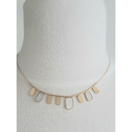 Collier pampilles rectangles nacre - ZAG