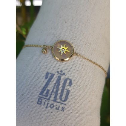 Bracelet pierre nude et étoile - ZAG