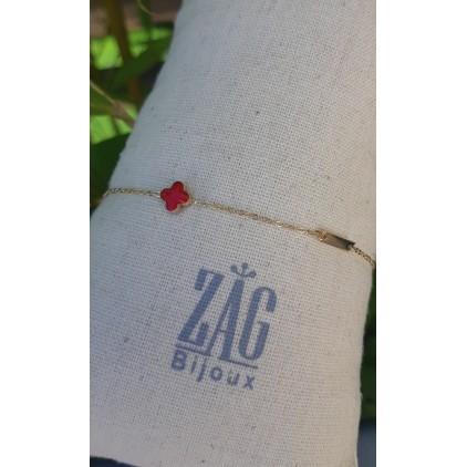 Bracelet trèfle rouge - ZAG