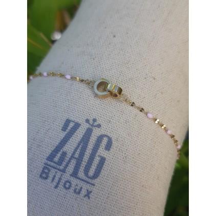 """Bracelet menottes """"couleur rose"""" - ZAG"""