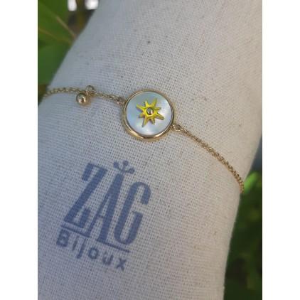 Bracelet rond nacre et étoile - ZAG