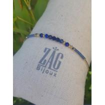 Bracelet jonc bleu - ZAG