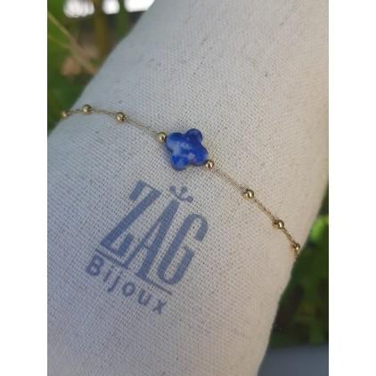 Bracelet trèfle bleu - ZAG