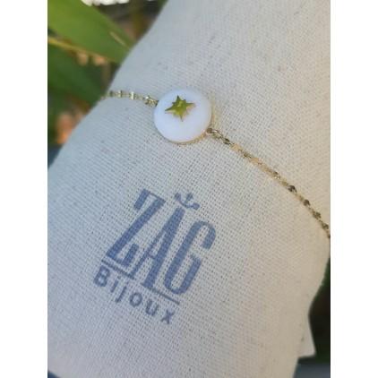 Bracelet pierre blanche et étoile - ZAG