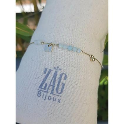 """Bracelet pierres """"vert d'eau"""" - ZAG"""