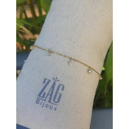 Bracelet pampilles avec zircons - ZAG