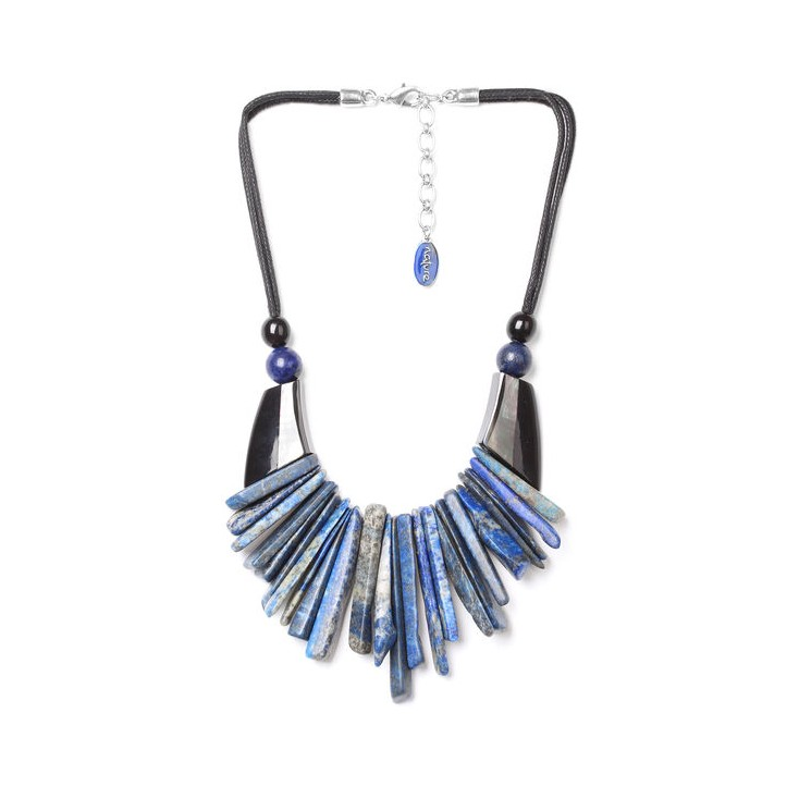 DEEP BLUE - plastron - Nature Bijoux