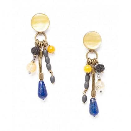 BLUE TRIBE - Boucles longues pampilles - Nature Bijoux