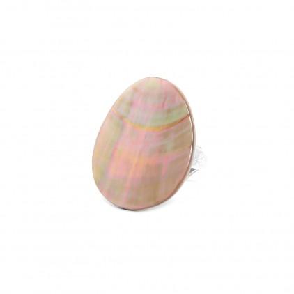Bague nacre brune - Nature Bijoux